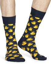 Happy Socks - Rubber Duck - Donkerblauw/Geel - Unisex - Maat 41-46