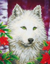 Diamond Dotz ® painting White Wolf (35,5x45,7 cm) - Diamond Painting