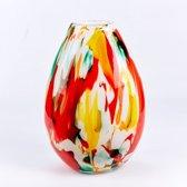 Vaas Fidrio - glazen sculptuur - fiorito - mondgeblazen