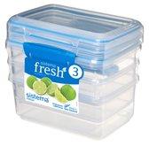 Sistema Fresh voorraaddoos - set van 3 blauw - 1L