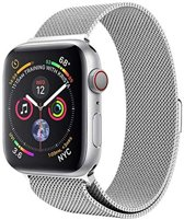 Milanese Loop Armband Voor Apple Watch Series 1/2/3/4 38/40 MM Iwatch Milanees Horloge Band - Zilver Kleurig