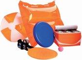 Nektar-strandset, frisbee, strandtennis, strandbal, kussen, koeltas, voor kinderen en volwassenen, oranje