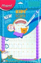 Whitebord Kidy transparant - met accessoires en leerbladen - paars