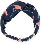 Haarband Flamingo Blauw | Polyester | Elastische Bandana