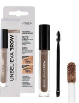 L'Oréal Paris Unbelieva Brow Wenkbrauwgel - 104 Chatain - Licht Bruin - Waterproof - 3.4 ml
