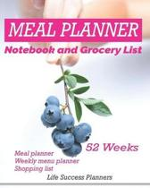 Meal Planner Notebook and Grocery List 52 Weeks