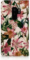 Samsung Galaxy S9 Plus Uniek Standcase Hoesje Flowers