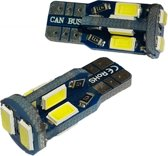 Auto LEDlamp 2 stuks | autoverlichting LED T10 | 10-SMD xenon wit 6000K | CAN-BUS 12V DC