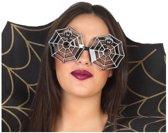 Halloween/horror spinnenweb bril voor volwassenen - Halloween verkleed accessoire