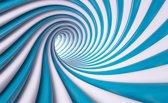Fotobehang Design | Blauw, Wit | 416x254