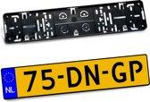 Kentekenplaathouder ABS ZONDER BOORD voor kentekenplaat 520x110mm NEDERLAND