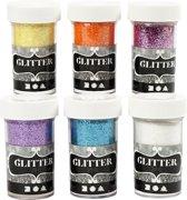 Glitter - Assortiment, 6x20 gr