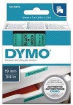 DYMO S0720890 labelprinter-tape Zwart op groen