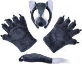 Wolf verkleedset van pluche