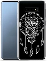 Galaxy S10 Hoesje Dream Owl Mandala White
