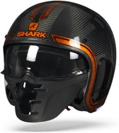 SHARK S-DRAK VINTA CARBON CHROME ORANGE DUO L