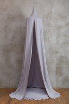 FUJL – Hemeltje – Klamboe – sluier – handgemaakt – Grijs – Lengte 240cm