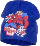 Spiderman muts blauw voor jongens 52 cm (4-6 jr)