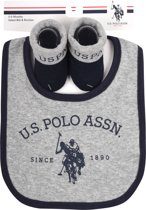 US POLO Baby Gift Set - Grey Marl - Maat 0-6M