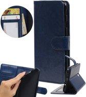 | Huawei P10 Lite Portemonnee hoes booktype wallet Donkerblauw | WN™