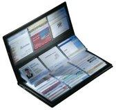 Visitekaartmap - 288 kaartjes - 9x5,8cm