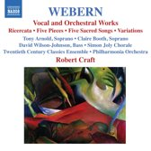 Webern: Vocal & Orch. Works
