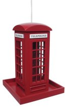 Villa The Phone House - Vogelvoederhuisje - Rood - 16 cm x 16 cm x 22.5 cm