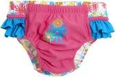 Playshoes - UV herbruikbare zwemluier - Bloemen roze ruches - maat 62-68cm