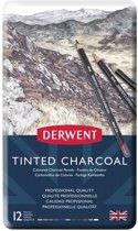 Derwent Tinted Charcoal 12 houtskoolpotloden in blik