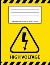 High Voltage Warning Periodic Table Chemistry Composition Notebook