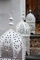 Marokkaanse Lantaarn white M