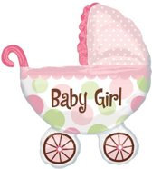 Baby Girl Kinderwagen Geboorteballon