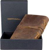 Leather Journal - Notitieboek  100% Buffel Leer - 300 Blanco Pagina's - Perfect als Blanco Bullet Journal (Blanco bladzijden) - Mooie Geschenk | Cadeau verpakking - Buffalo Leather Journal