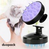 2 x Siliconen Massage Borstel - Siliconen Haarborstel voor Gezond  Haar en Hoofdhuid - Hoofdhuidverzorging - Anti-Roos - Massageborstel - 2 Stuks - Voordeelset