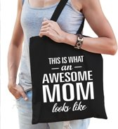 Kadotas This is what an awesome mom looks like katoen zwart - cadeau voor moeders