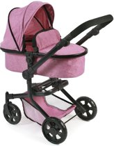 Poppenwagen Mika Jeans Pink