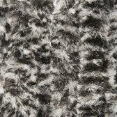 Vliegengordijn Kattenstaart - 240x100 cm - zwart/wit