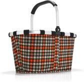 Reisenthel Carrybag Boodschappenmand - Polyester - 22L - Glencheck Red Rood; Zwart; Zand