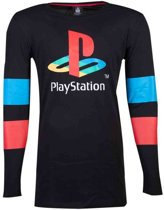Playstation - Logo & Arms Striped Longsleeve T-shirt - M