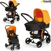 Hauck Miami 4 S Trio Set - Kinderwagen - Caviar/Orange