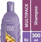 Andrelon Oil & Curl - 6 stuks - shampoo - voordeelverpakking