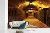 Fotobehang vinyl - Foto van een wijnkelder breedte 525 cm x hoogte 350 cm - Foto print op behang (in 7 formaten beschikbaar)