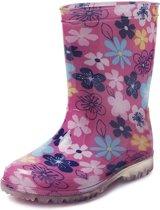 Gevavi Boots Fien meisjeslaars pvc roze bloem maat 28
