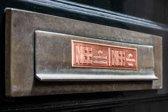 nee nee sticker VINTAGE KOPER gratis verzending! brievenbussticker geen reclame, NEE nee ANTIEK VINTAGE LOOK deurbordjes