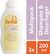 Zwitsal Baby Extra Gevoelig Huidje Shampoo & Wasgel - 3x200ml Voordeelverpakking