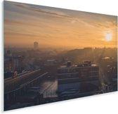 Zonsopkomst van Birmingham in de West Midlands Plexiglas 90x60 cm - Foto print op Glas (Plexiglas wanddecoratie)
