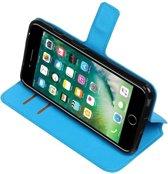 iPhone 7/8 Plus Blauw   Cross Pattern TPU bookstyle / book case/ wallet case    WN™
