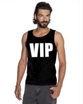 VIP tekst singlet shirt/ tanktop zwart heren S