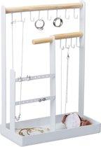 relaxdays Sieradenhouder - metaal - sieradenrek - oorbellen houder - ketting standaard