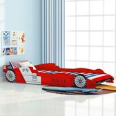 Kinderbed Raceauto 90x200 cm Rood / Race auto kinder bed / Autobed race auto